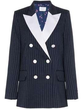 Casablanca Pinstripe Wool Blazer by Racil