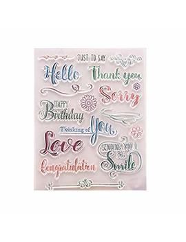 Gimitsui Store Silicone Clear Stamp (Colorful Words) by Gimitsui