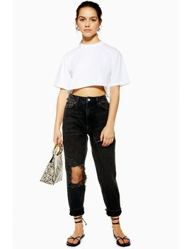 Petite Willow Ripped Mom Jeans by Topshop