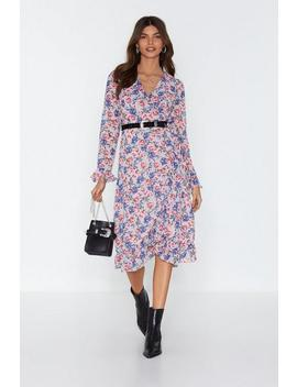 Leafing So Soon Floral Midi Dress by Nasty Gal