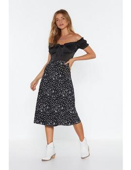 Shooting Star Bias Cut Midi Skirt by Nasty Gal