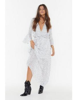 Dot Your Number Spotty Maxi Dress by Nasty Gal
