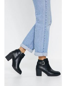 Croc Buckle Ankle Boots by Nasty Gal