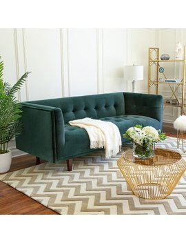 Abbyson Belanger Chesterfield Velvet Sofa by Abbyson