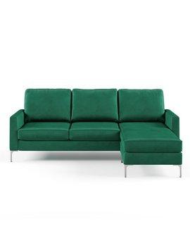 Novogratz Chapman Sectional Sofa With Chrome Legs by Novogratz
