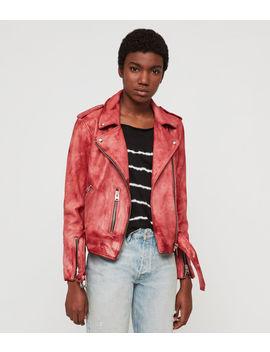 Balfern Tye Dye Leather Biker Jacket by Allsaints