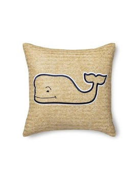 """20""""X20"""" Whale Throw Pillow   Tan/Navy   Vineyard Vines® For Target by Tan/Navy"""