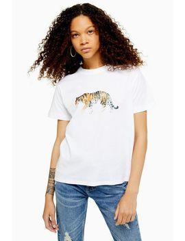 Petite Walking Tiger T Shirt by Topshop
