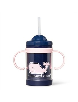 9oz Sippy Cup Pink Whale   Navy   Vineyard Vines® For Target by Navy