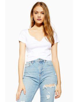 Petite Notch T Shirt by Topshop