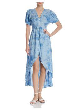 Tie Dye High/Low Dress   100 Percents Exclusive by Aqua