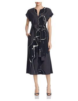 Cosimia Abstract Print Midi Dress by Lafayette 148 New York