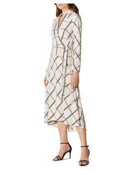 Check Midi Wrap Dress by Karen Millen