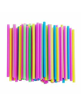 Alink Assorted Bright Colors Jumbo Smoothie Straws, Pack Of 100 Pieces by Alink