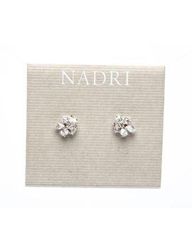 Nadri Cubic Zirconia Cluster Womens Stud Earrings 0111 by Nadri