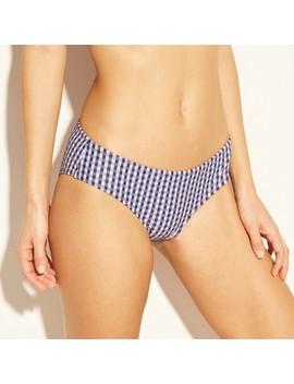 Women's Cheeky Hipster Bikini Bottom   Xhilaration Navy Plaid by Xhilaration Navy Plaid
