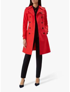 Hobbs London Saskia Trench Coat, Red by Hobbs