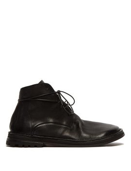 Grained Leather Boots by Marsèll