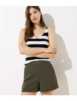 Petite Crepe Pull On Shorts by Loft