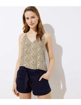 Petite Knit Tie Waist Shorts by Loft