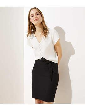 Petite Tie Waist Pull On Pencil Skirt by Loft