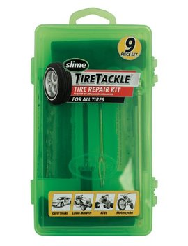 Slime 20133 Tire Repair Tackle Kit (9 Piece Set) by Slime