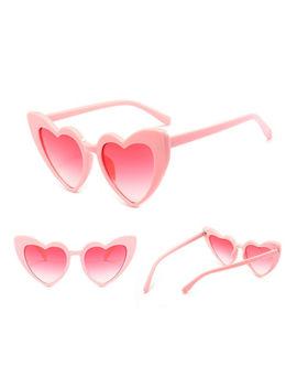 New Women Fashion Lolita Heart Shaped Sunglasses Shades Vintage Eyeglasses 2019 by Unbranded