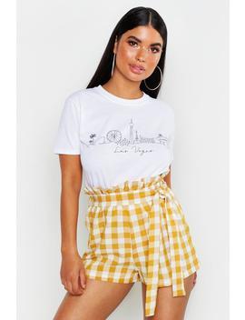 Petite Las Vegas Skyline T Shirt by Boohoo