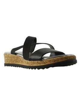 Athena Alexander Womens Black Wedge Sandals Size 5 (288966) by Athena Alexander