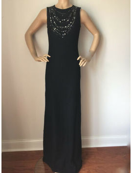 Nwt St John Knit Gown Size 8 Black Shimmer Tweed by St John Knit