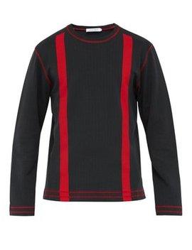 Stripe Print Ribbed Cotton Sweatshirt by Craig Green