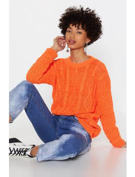 Neon Cable Knit Jumper by Nasty Gal
