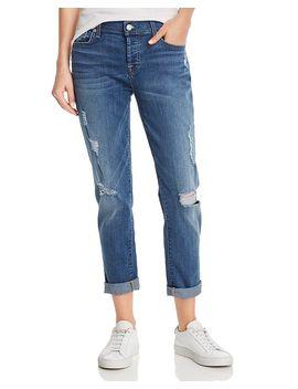 Josefina Skinny Boyfriend Jeans In Radntpier by 7 For All Mankind