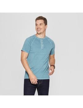 Men's Regular Fit Short Sleeve Henley Shirt   Goodfellow &Amp; Co by Goodfellow & Co