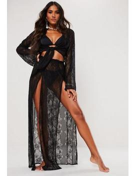 Black Lace Maxi Skirt by Missguided