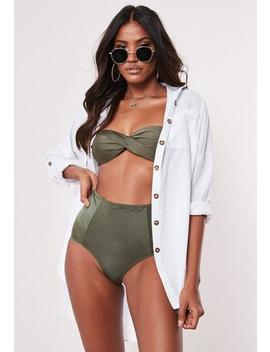 White Tortoiseshell Button Shirt Beach Cover Up by Missguided