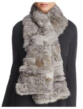 Pieced Rabbit Fur Scarf by Surell