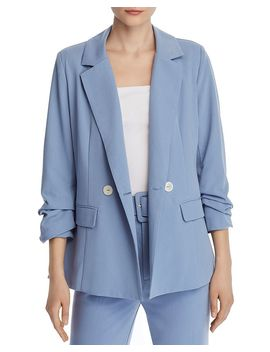 Ruched Double Breasted Blazer   100% Exclusive by Chriselle Lim