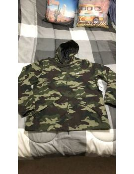 New Men's Obey Russett Field Hooded Jacket Camo Camouflage Large L Green by Obey