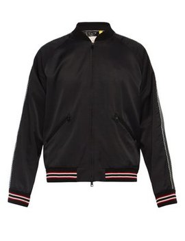 Embroidered Souvenir Style Satin Bomber Jacket by 7 Moncler Fragment