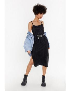 Strappy Plisse Midi Dress by Nasty Gal