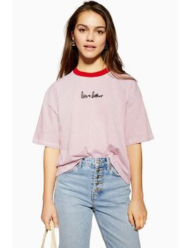 Petite Lovers Letters T Shirt by Topshop