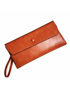 Rfid Women's Wallets Ladies Leather Wristlet Organizer With Phone Slot Large Capacity by Yotoo