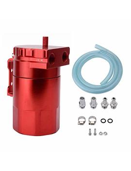 Espeeder Universal Aluminum Car Truck Engine Oil Catch Can Tank Polish Baffled Reservoir Red 300ml by Espeeder