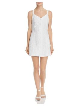 Button Front Eyelet Dress   100% Exclusive by Aqua