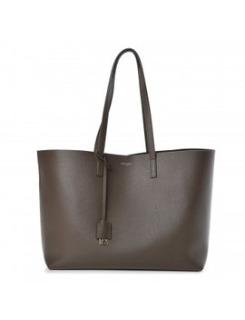 Saint Laurent Calfskin Large Shopping Tote Kaki Militaire by Yves Saint Laurent