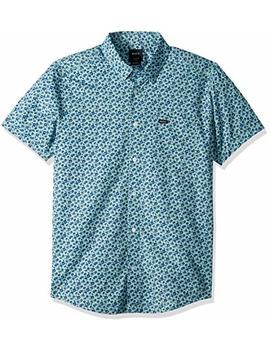 Rvca Men's Porcelain Short Sleeve Woven Shirt by Rvca