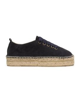 Lace Up Suede Espadrilles by ManebÍ