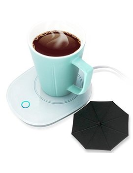 Mug Warmer Coffee Warmer With Automatic Shut Off To Keep Temperature Up To 131℉/ 55℃ With A Silicone Mug Cover Safely Use For Office/Home To Warm Coffee Tea Milk Candle Heating Wax by Senj