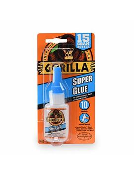 Gorilla Super Glue 15 Gram, Clear by Gorilla